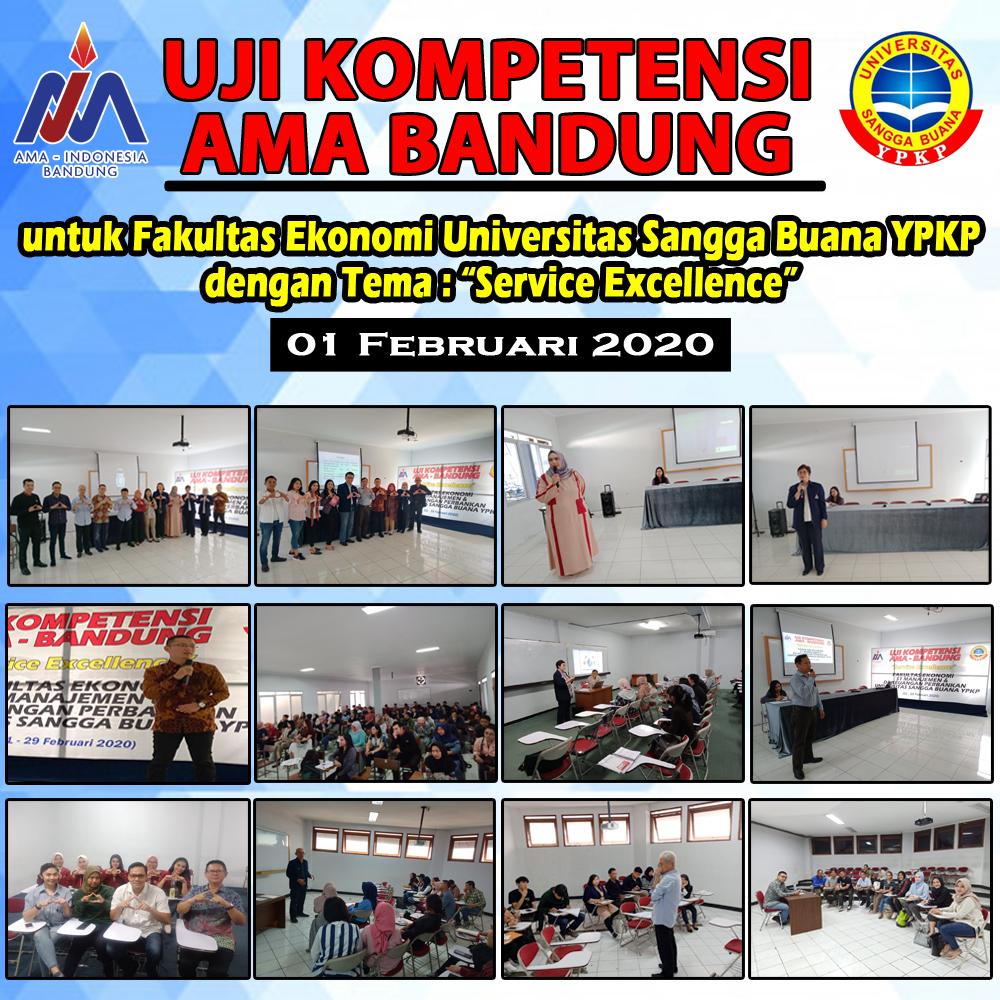 Pembekalan Uji Kompetensi  AMA Bandung bagi Fakultas Ekonomi Universitas Sangga Buana YPKP