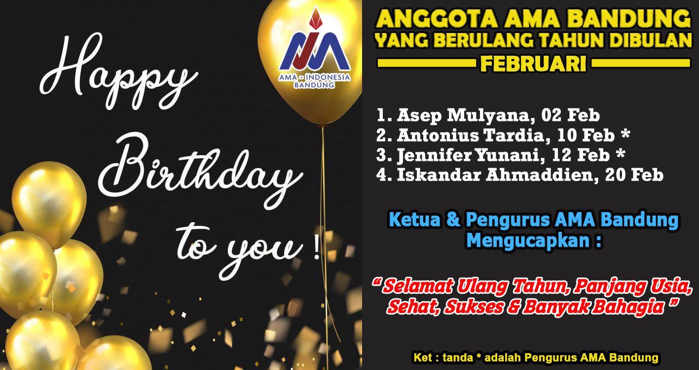 Anggota AMA Bandung yang berulan tahun Bulan Februari