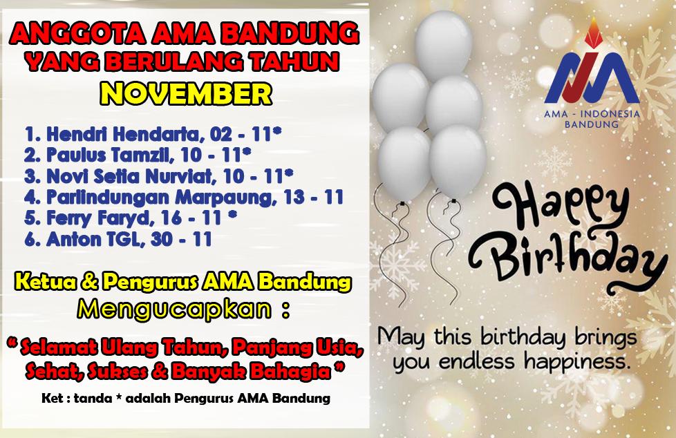 Member AMA Bandung yang Berulang Tahun di Bulan November