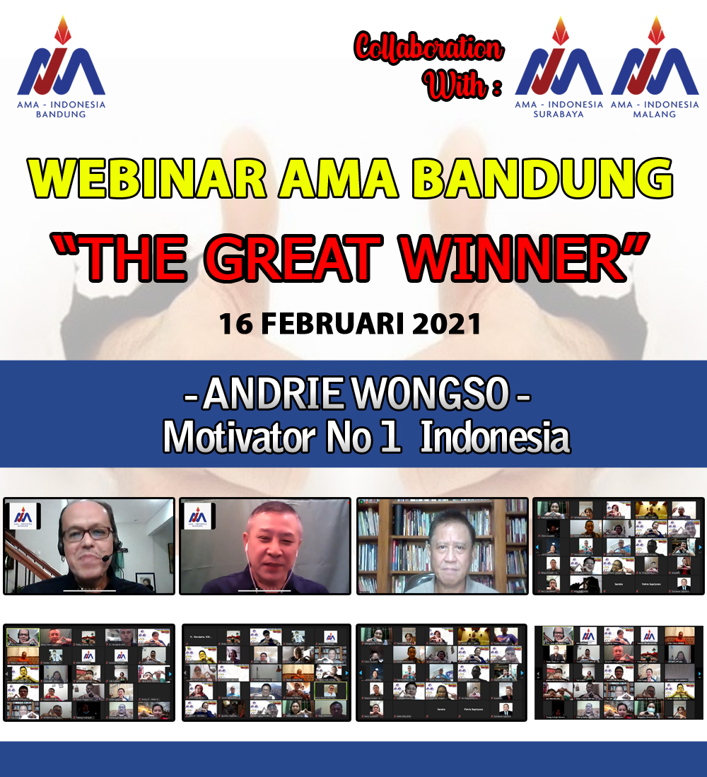 Dokumentasi Webinar - The Great Winner
