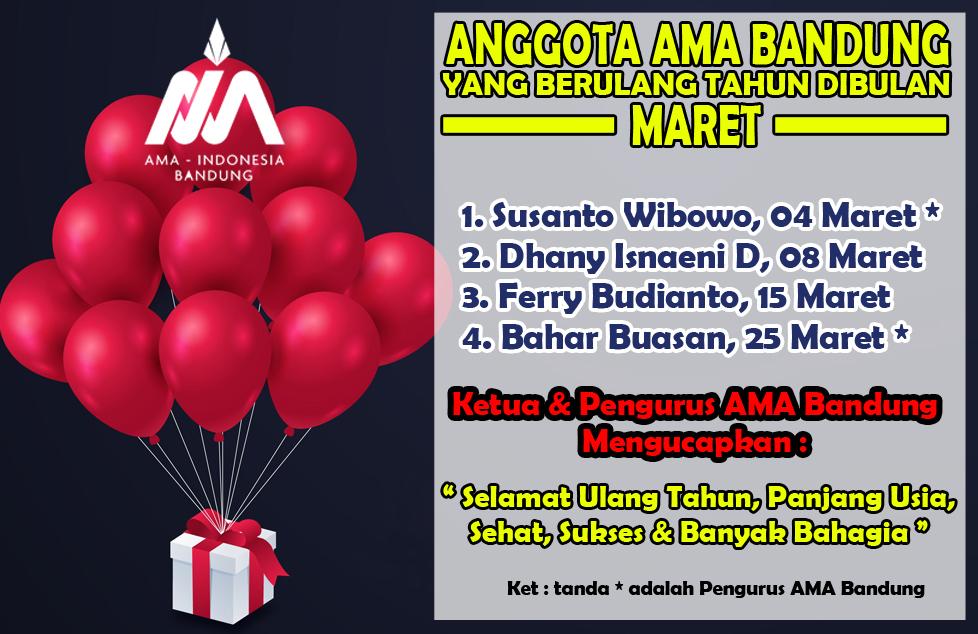 Member AMA Bandung yang berulang tahun dibulan Maret