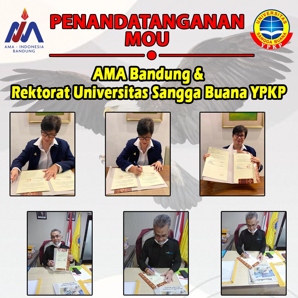 Penandatanganan MOU AMA Bandung & Rektorat Universitas Sangga Buana YPKP