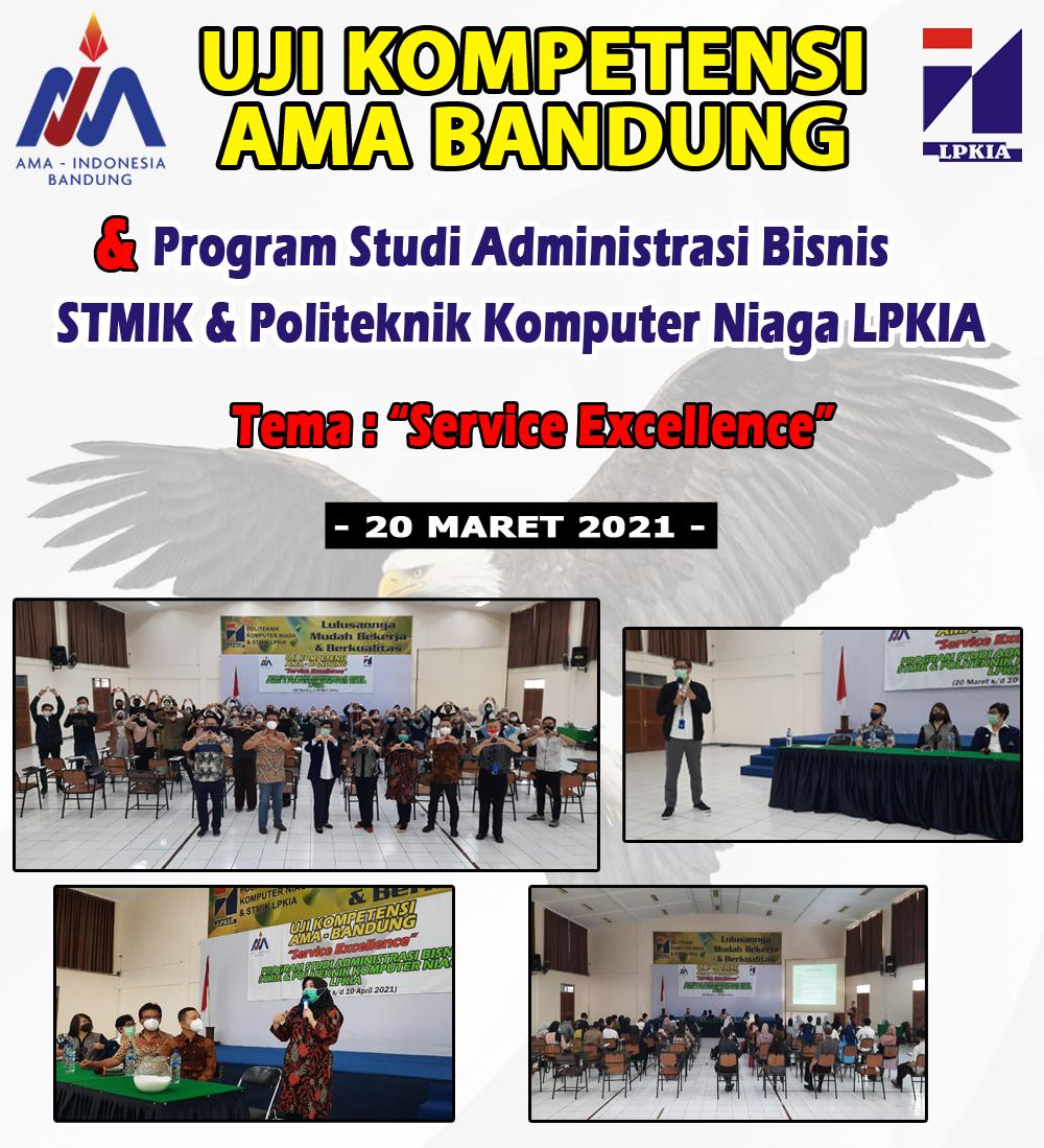 Uji Kompetensi AMA Bandung - Prodi Adbis STMIK & PKN LPKIA