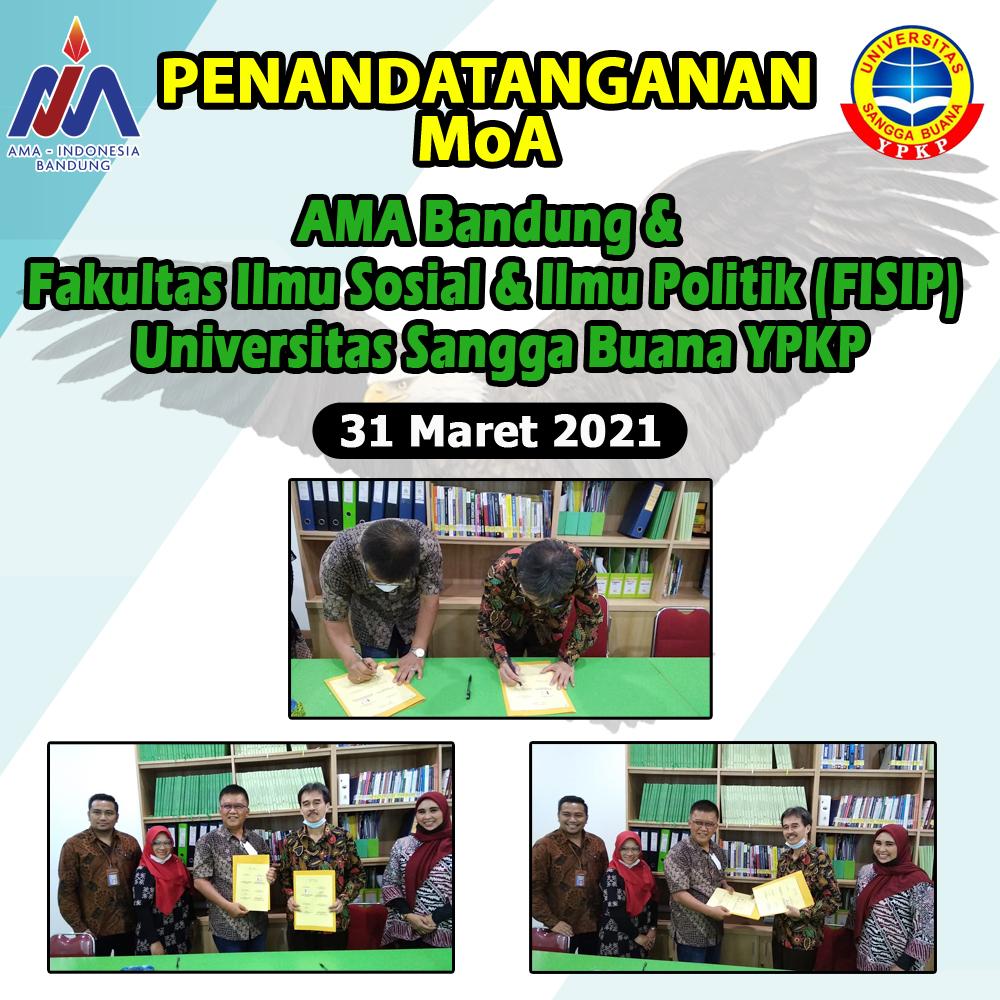 Penandatanganan MoA AMA Bandung - FISIP USB YPKP