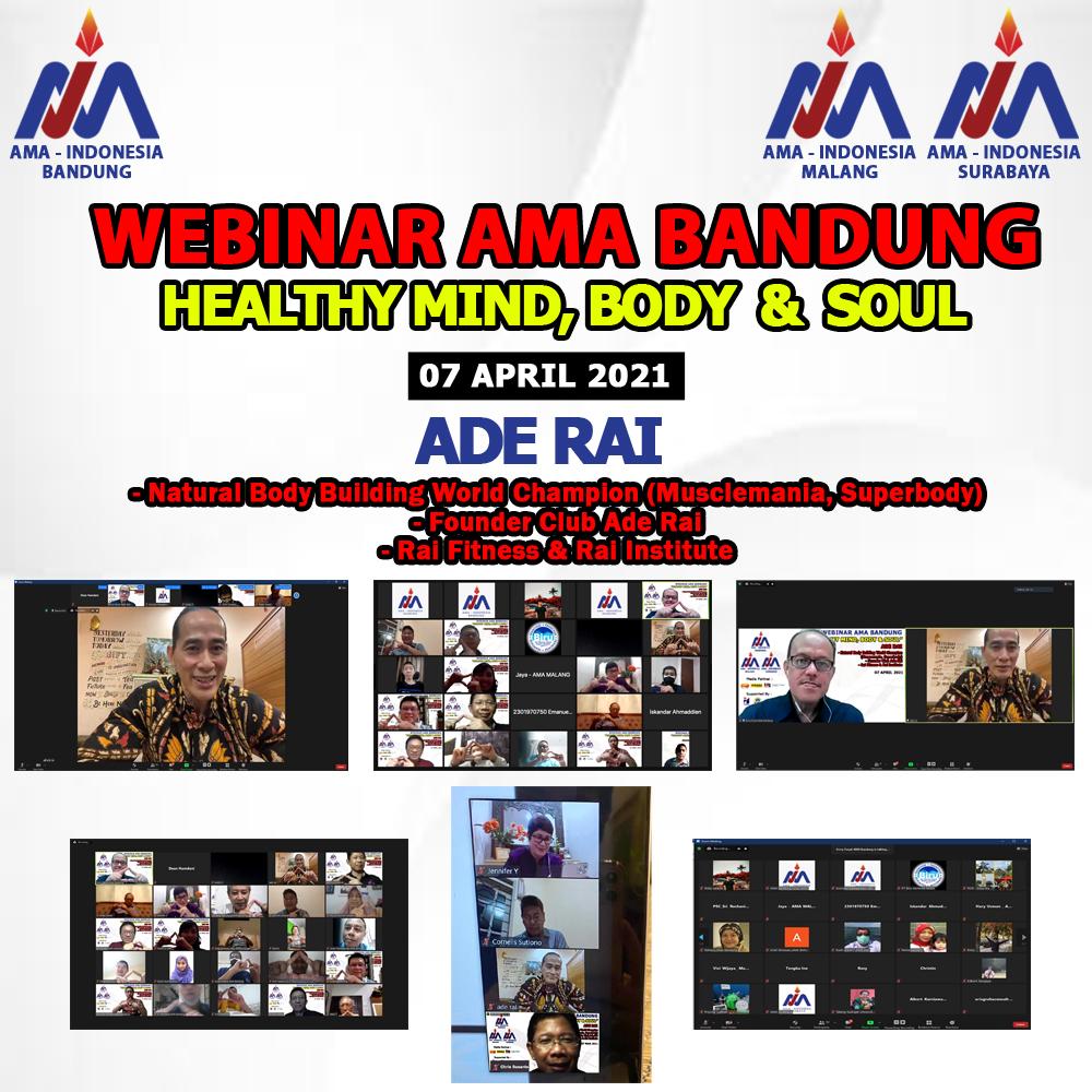 Dokumentasi Webinar AMA Bandung Ade Rai