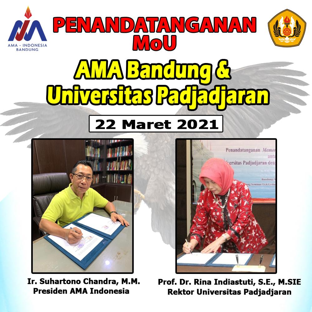 Penandatanganan MoU antara AMA Bandung dengan UNPAD