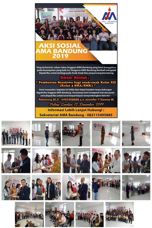 Kegiatan Aksi Sosial AMA Bandung bulan Desember