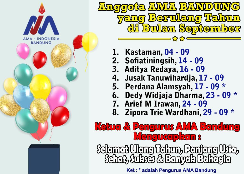 Anggota AMA Bandung yang Berulang Tahun Bulan September