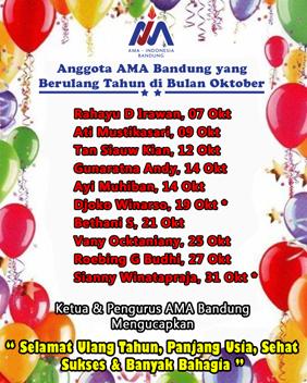 Anggota AMA Bandug yang BerUlang Tahun Bulan Oktober