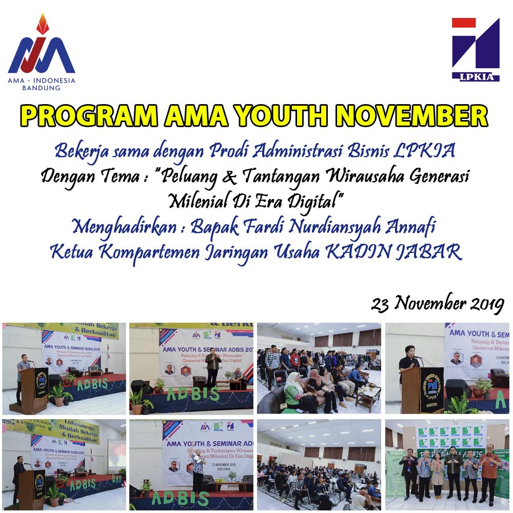 Program AMA Youth Bulan November 2019 - LPKIA