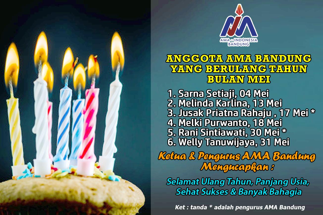 Anggota AMA Bandung yang Berulang Tahun dibulan Mei