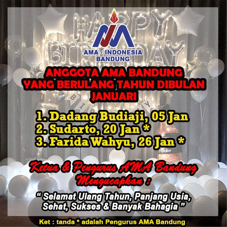 Anggota AMA Bandung Yang Berulang Tahun Bulan Januari