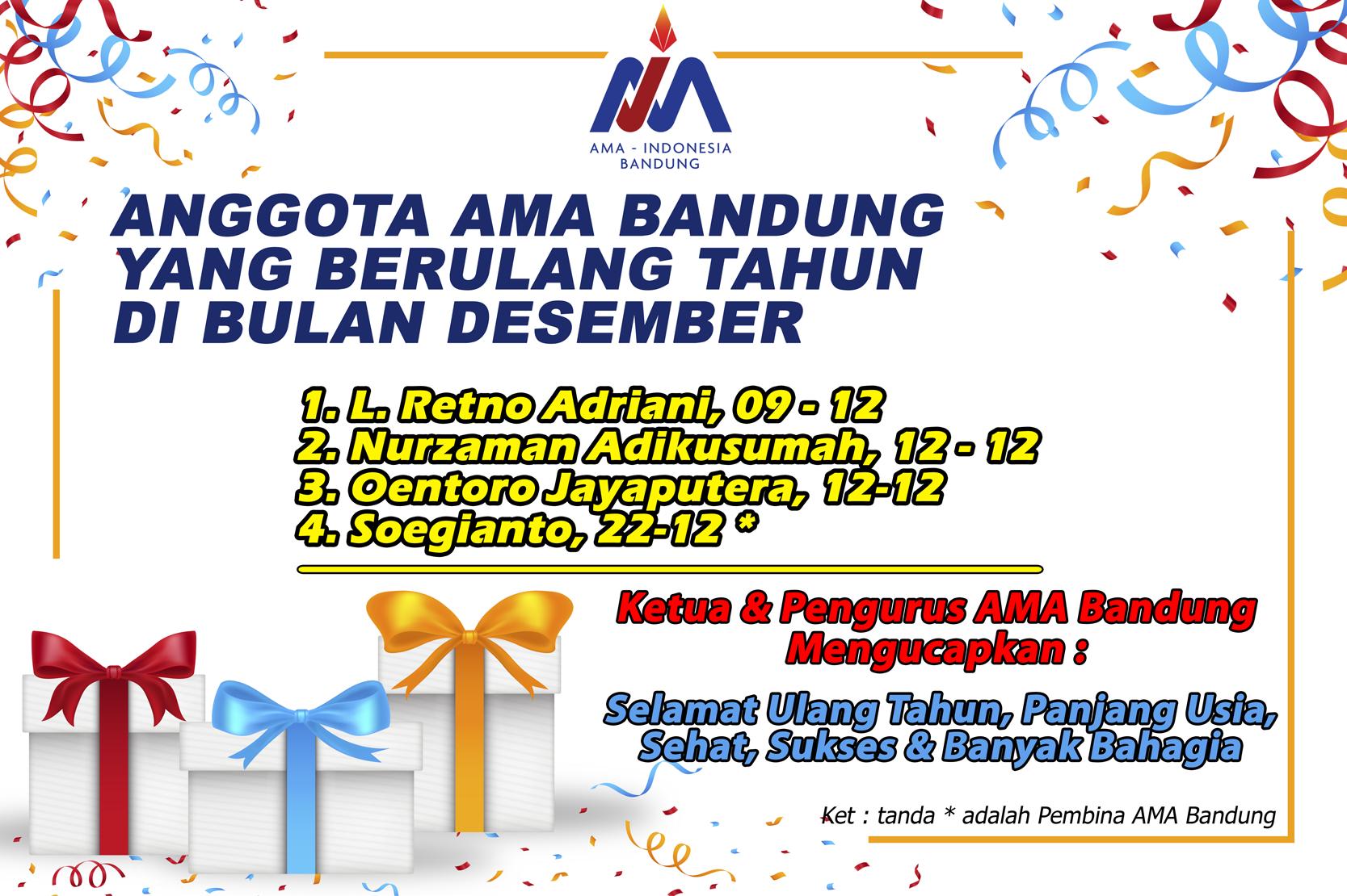 Anggota AMA Bandung yang Berulang tahun bulan Desember