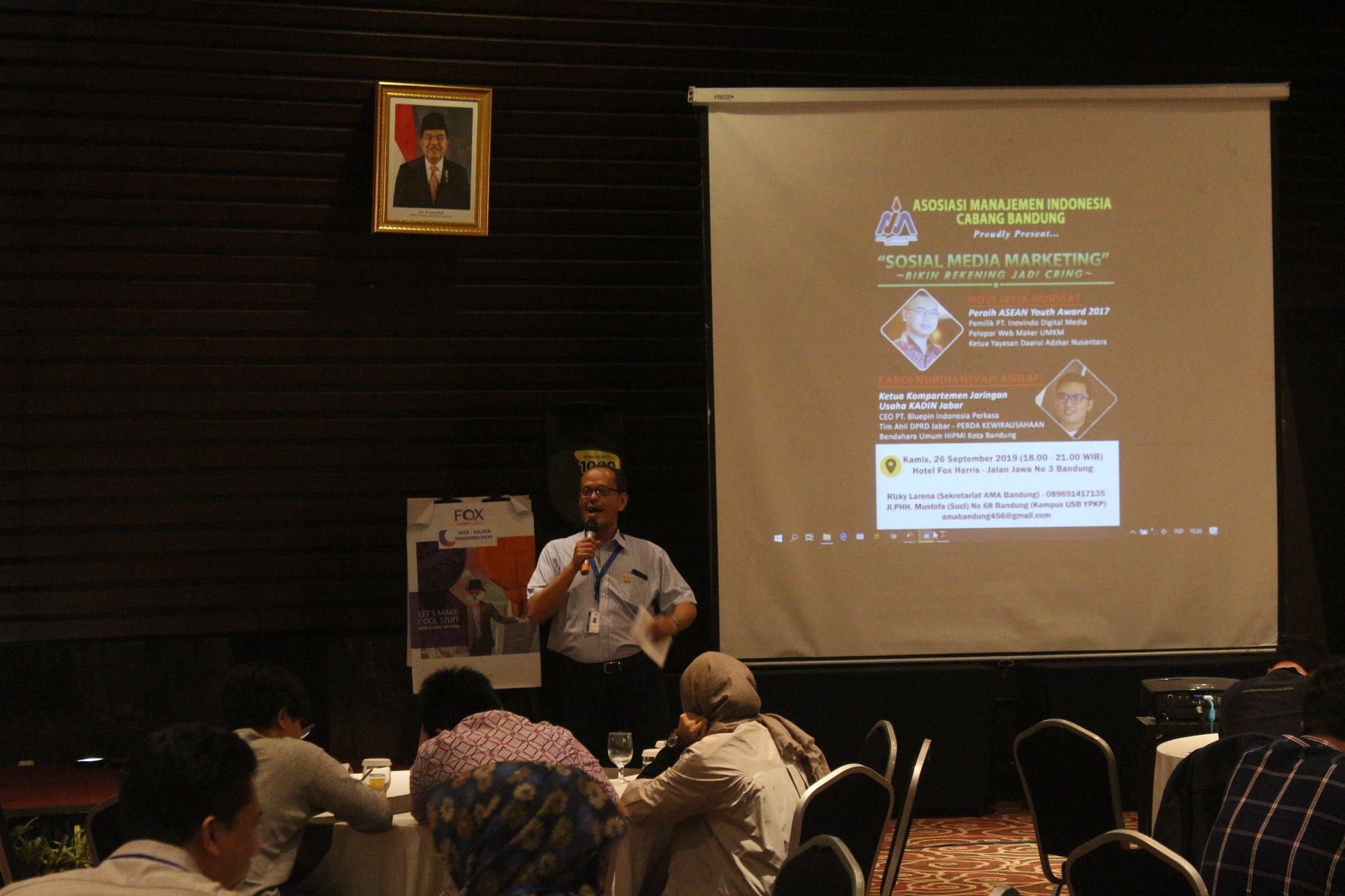 Dokumentasi Seminar AMA Bandung di Bulan September 2019