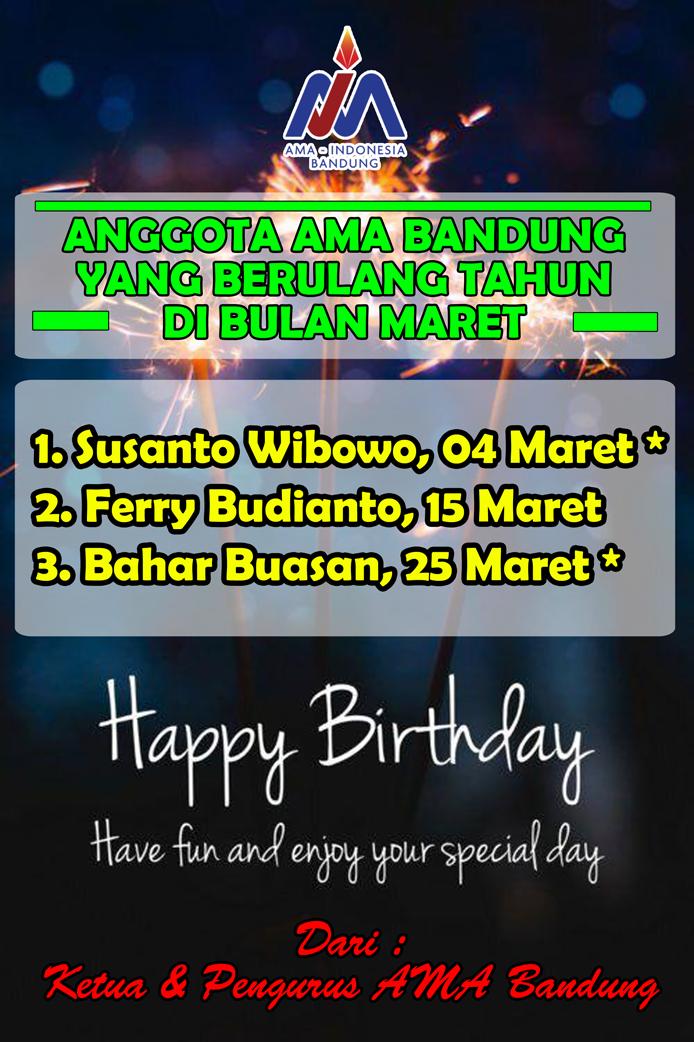 Anggota AMA Bandung yang Berulang tahun bulan Maret