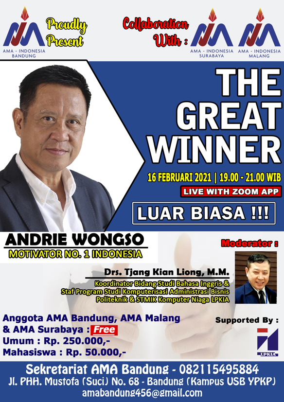 The Great Winner - Andrie Wongso